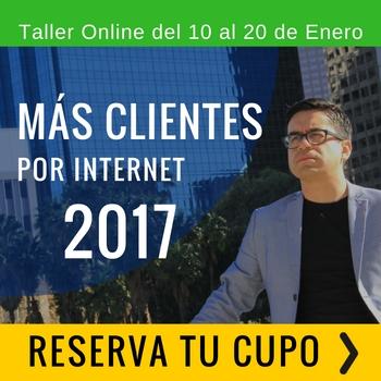 Taller Online Mas Clientes Por Internet banner